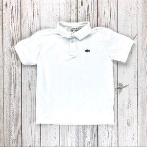 Lacoste white polo t-shirt (boys)